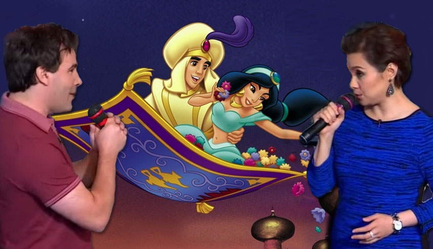 The original Aladdin and Jasmine reunite to sing A Whole New World and it's AMAZING