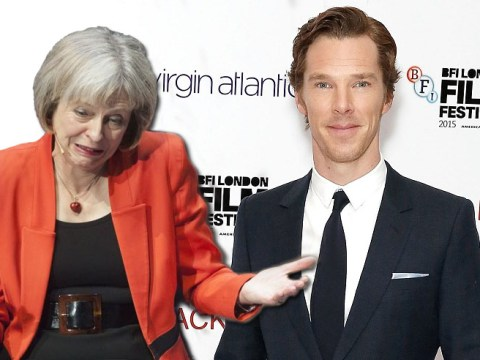 Benedict Cumberbatch wants to have words with Theresa May over the refugee crisis