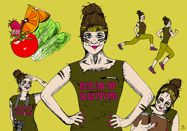 BreakUp-Survivor_Illustration_LibertyAntoniaSadler_MMetro (Picture: Liberty Antonia Sadler/ Metro)