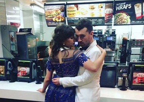 Sam Smith hits McDonalds after Spectre premiere as he announces he's taking a break from music to date