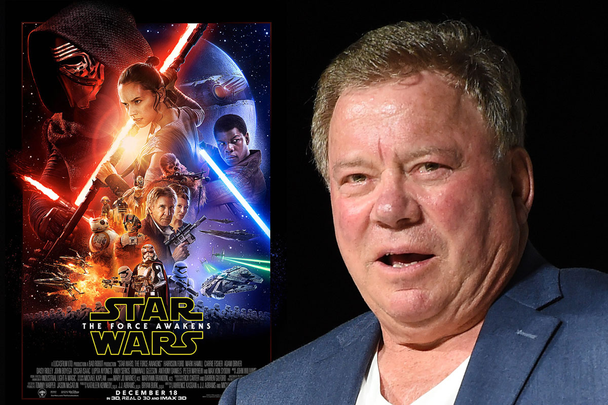 William Shatner is not happy with Twitter over Star Wars, not happy at all