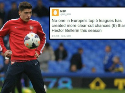 Arsenal's Hector Bellerin is joint-top for chances created in Europe