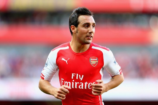 Santi Cazorla of Arsenal in action during the Barclays Premier League match between Arsenal and Crystal Palace at Emirates Stadium on August 16, 2014 in London, England. LONDON, ENGLAND - AUGUST 16: (Photo by Clive Mason/Getty Images)