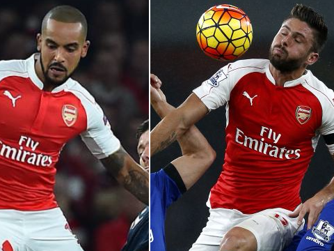 Arsenal's title challenge aided by battle for striking supremecy between Theo Walcott and Olivier Giroud