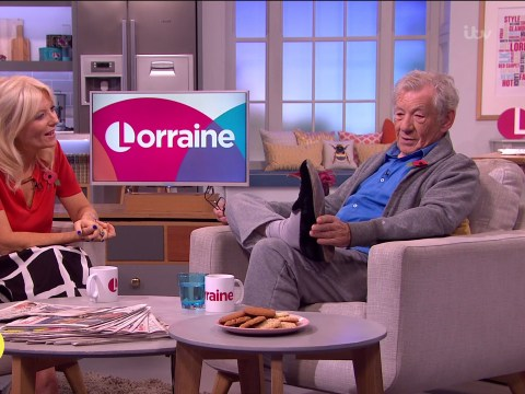 Sir Ian McKellen just turned up on Lorraine in his slippers like a legend