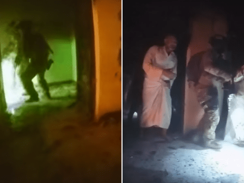 Dramatic video shows US and Kurdish forces freeing Isis hostages in Iraq