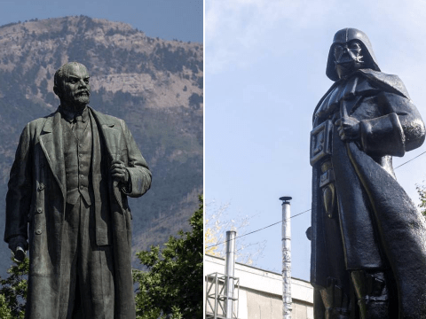 This Lenin statue has been turned into Darth Vader – but which leader do you prefer?
