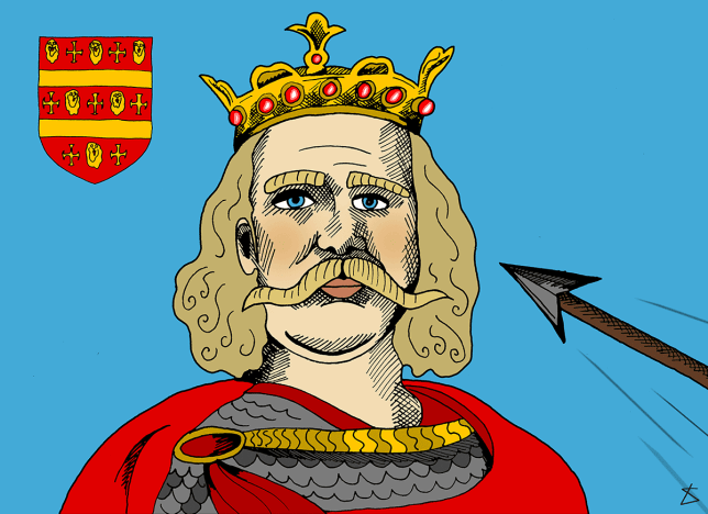 King Harold & The Arrow Illustration by Liberty Antonia Sadler for Metro.co.uk