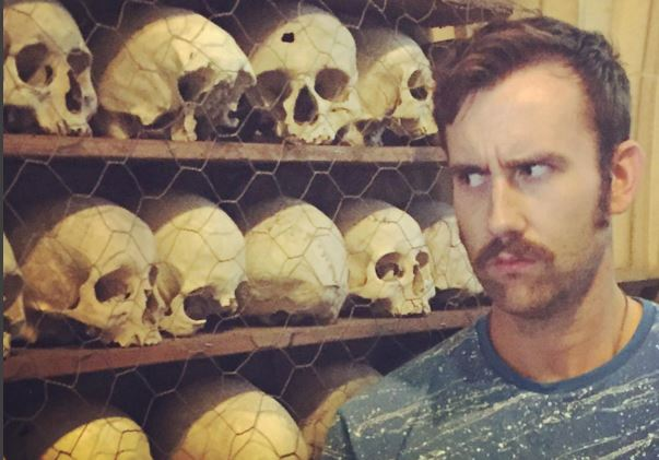 Matthew Lewis's moustache game is still going seriously strong