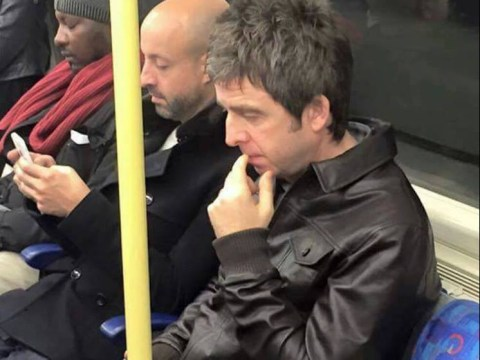Noel Gallagher got the Tube to The O2 to perform with U2, of course the internet loved it