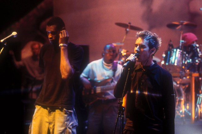 Mandatory Credit: Photo by Andre Csillag/REX Shutterstock (461567w) Massive Attack on Later with Jools, BBC Television, London, Britain - June 1997 Various