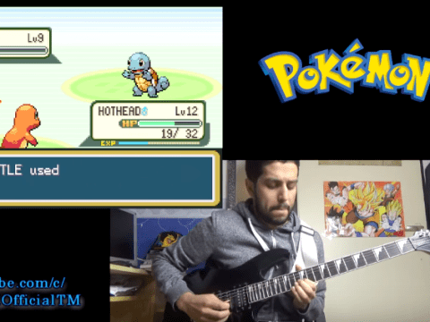 Catch this video of a guy perfectly covering Pokemon gameplay on his guitar