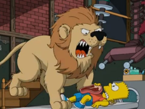 Here's the moment when Sideshow Bob finally gets to kill Bart Simpson – repeatedly