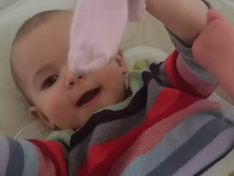 She said WHAT? Baby tries to learn the word 'sock' but it doesn't quite go to plan…