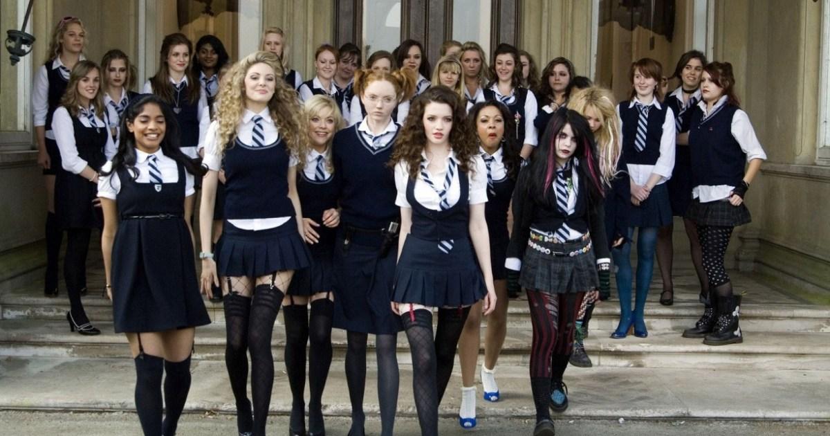 Blonde School Girl Solo