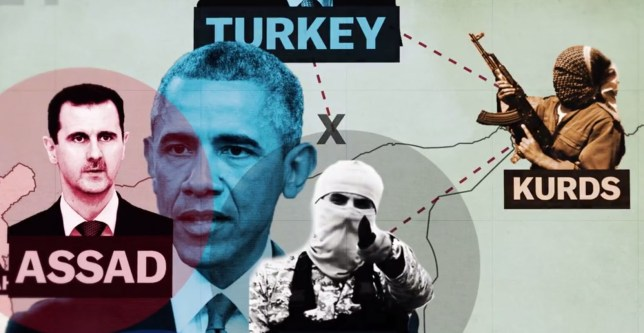 So many powers are involved in Syria now, but how did it get to this point? (Picture: Vox)
