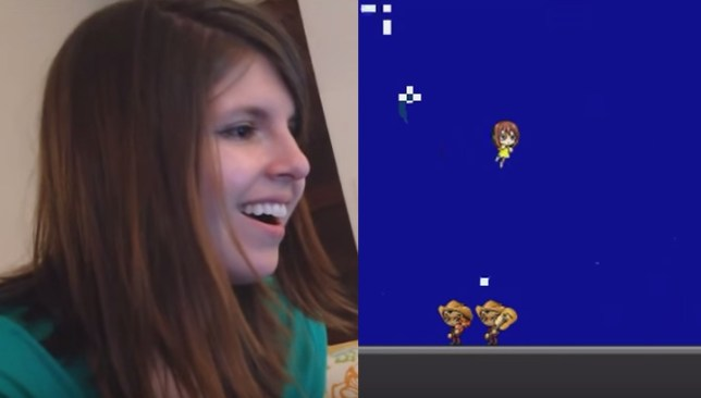 man proposes to wife with video game super mario style proposal