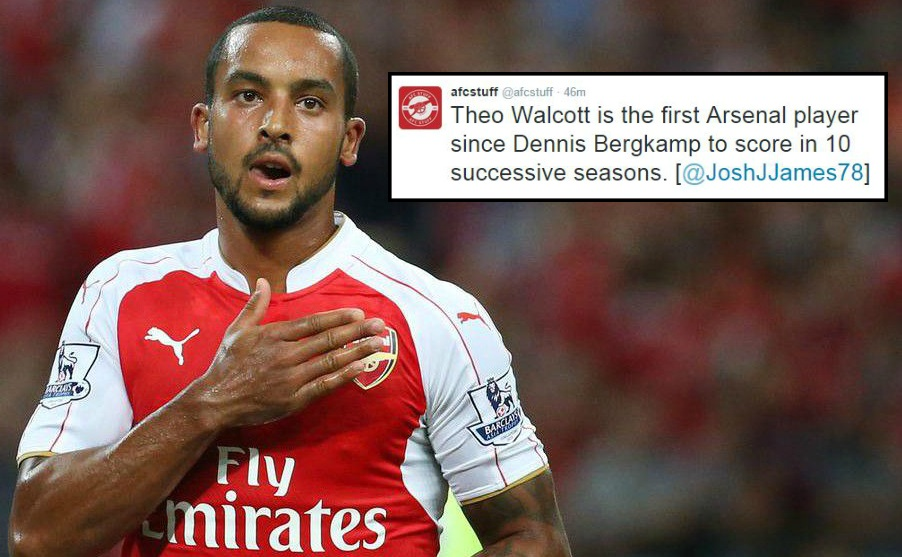 Stats show why Theo Walcott should be remembered as an Arsenal great