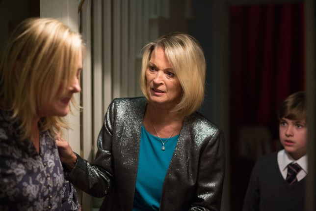 WARNING: Embargoed for publication until 00:00:01 on 01/12/2015 - Programme Name: EastEnders - TX: 07/12/2015 - Episode: 5185 (No. n/a) - Picture Shows: Bobby takes Kathy to check on Jane. Jane Beale (LAURIE BRETT), Kathy Sullivan (GILLIAN TAYLFORTH), Bobby Beale (ELIOT CARRINGTON) - (C) BBC - Photographer: Jack Barnes