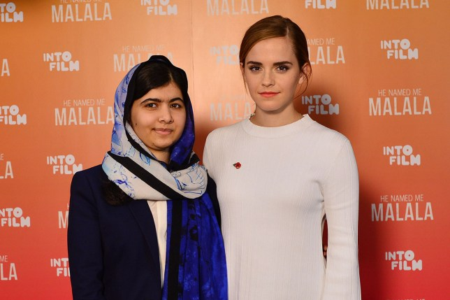 Emma Watson meets Malala Yousafzai following Pupils' Premiere of HE NAMED ME MALALA at the Into Film Festival on the 4th November 2015nnncredit: Joanne Davidson/Fox Searchlight Picturesn