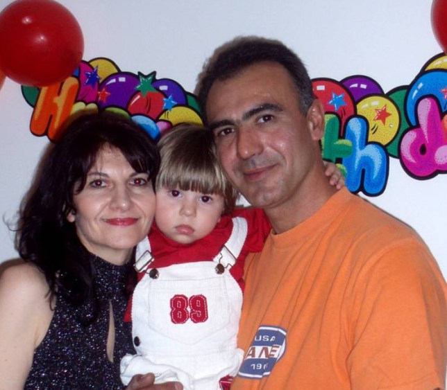 """Pic shows: The family. A married couple committed suicide in Romania over the grief of losing their young son to cancer. The tragedy happened in Constanta after the parents were unable to get over the loss of their son Cristian Dimitris Arava, who had just died of the disease at the age of nine. Neighbours found the couple, both aged 46, next to the body of Cristian at their family apartment. Prosecutor Sadic Zafer said it appears the woman hanged herself and her body was laid next to her child's and covered with a blanket. The man's body was found hanged in the kitchen. Investigators found a 13-page farewell letter from the parents in which they told of their heartbreak, which began several years ago when their son was diagnosed with a brain tumour. On a computer blog written seven years ago, the boy's mother said: """"I felt like I was dying myself when I heard the diagnosis. I can't express the pain that two parents feel when finding such terrible news about their child. He was only two years old."""" There was little hope for him as the tumour was growing continuously and doctors said surgery would be impossible. The last words posted on the blog by his mother were: """"Our only hope that Cristian is a lucky child and the tumour will stop growing is now shattered. The thought that every moment could be fatal, it drives me crazy."""" (ends)"""