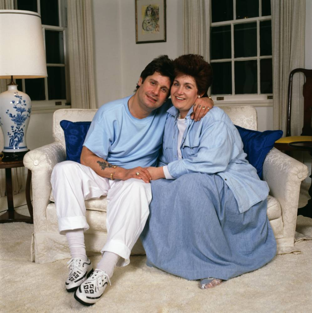 Ozzy and Sharon Osbourne look almost normal in these denim-heavy family snaps from the 80s