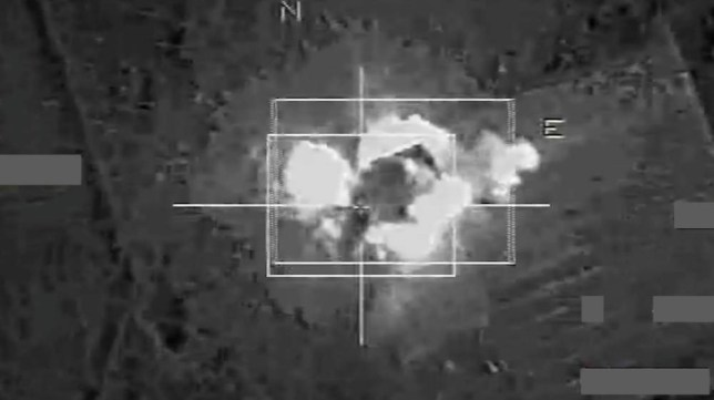 ABACA Press via Press Association Images. Dramatic footage of the French airstrikes shows rockets slamming into buildings, weapons depots, barracks and checkpoint below during a 72-hour bombing campaign in the ISIS stronghold of Raqqa in Syria in November 2015. France intensified strikes on Raqqa following last week's attacks in Paris that left 129 dead, with warplanes carrying out dozens of attacks on Sunday, Monday and Tuesday. Russia also pounded targets in the city with long-range bombers and sea-launched missiles on Tuesday. The action came after Moscow confirmed that a bomb attack brought down a Russian passenger jet over Egypt last month, killing all 224 people on board. Photo via ECPAD/ABACAPRESS.COM