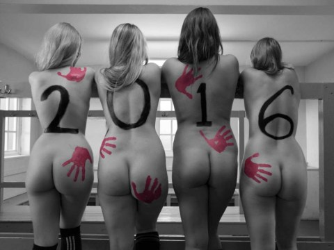 University of Liverpool women's rugby team Coppafeel for cancer charity calendar