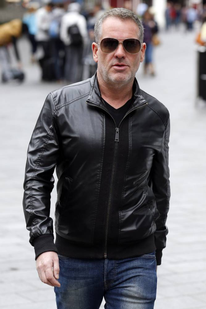 LONDON, UNITED KINGDOM - SEPTEMBER 9: Chris Moyles seen at Global House, Leicester Square on September 9, 2015 in London, England. Moyles has been announced as a presenter for new station, Radio X. (Photo by Neil Mockford/Alex Huckle/GC Images)