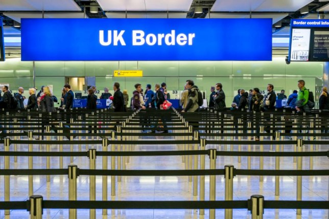 EA838Y Immigration and passport control, Terminal 2, Heathrow Airport, London, United Kingdom