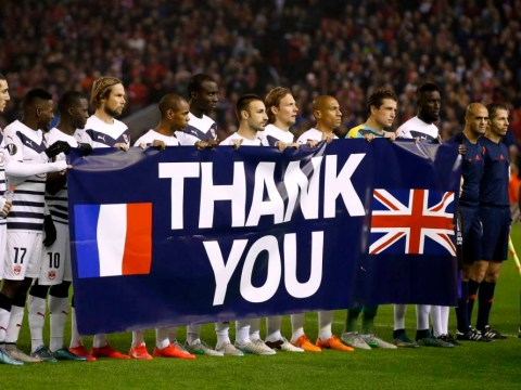 French club Bordeaux thank UK for Paris attacks support ahead of Europa League match v Liverpool