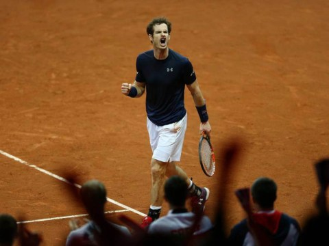 Watch Andy Murray issue perfect comeback to Belgium fans during Davis Cup final victory v Ruben Bemelmans