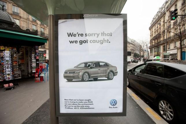 Paris: Over 600 fake adverts denounce hypocrisy of the COP21 Paris climate talks Credit: Brandalism
