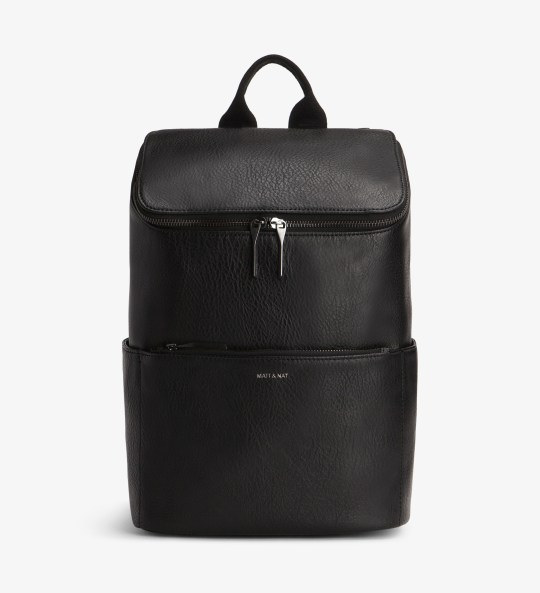Black backpack - £95 - www.gatherandsee.com
