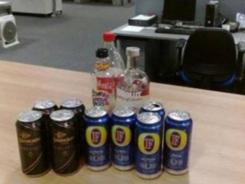 This was the vast amount of alcohol seized from 100 youths at party