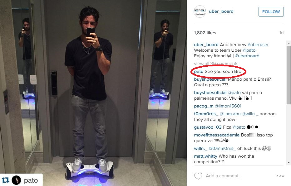 Has Alexandre Pato just revealed he has actually agreed a transfer to Liverpool?