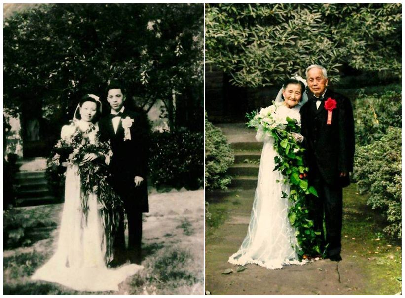 This super-cute couple celebrated their 70th wedding anniversary by recreating their wedding pics
