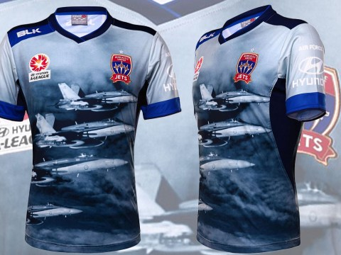 Newcastle Jets unveil fighter plane-inspired kit to honour Air Force