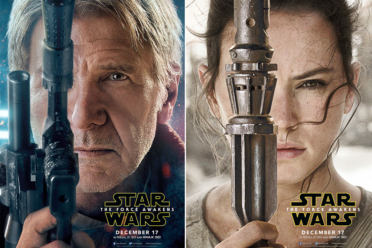 These Star Wars: The Force Awakens character posters are a thing of beauty