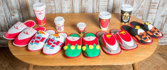 Costa Coffee Giving Away Christmas Slippers To Match Their