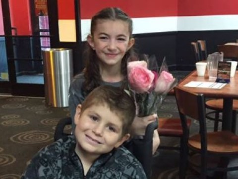 Eight-year-old with cancer finds the love of his life