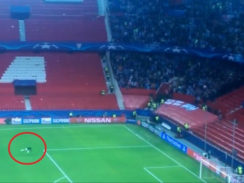 Watch: Manchester City's Fabian Delph slides in front of fans in celebration despite playing 4 minutes v Sevilla