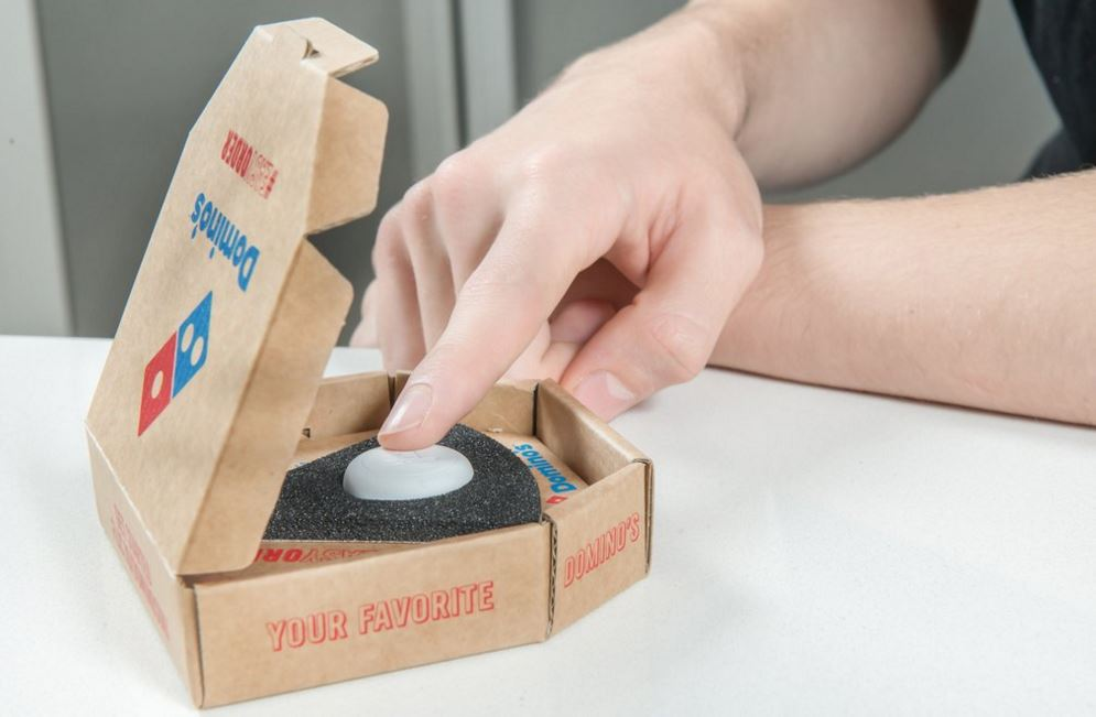 Ordering Domino's pizza just became as easy as pushing a button