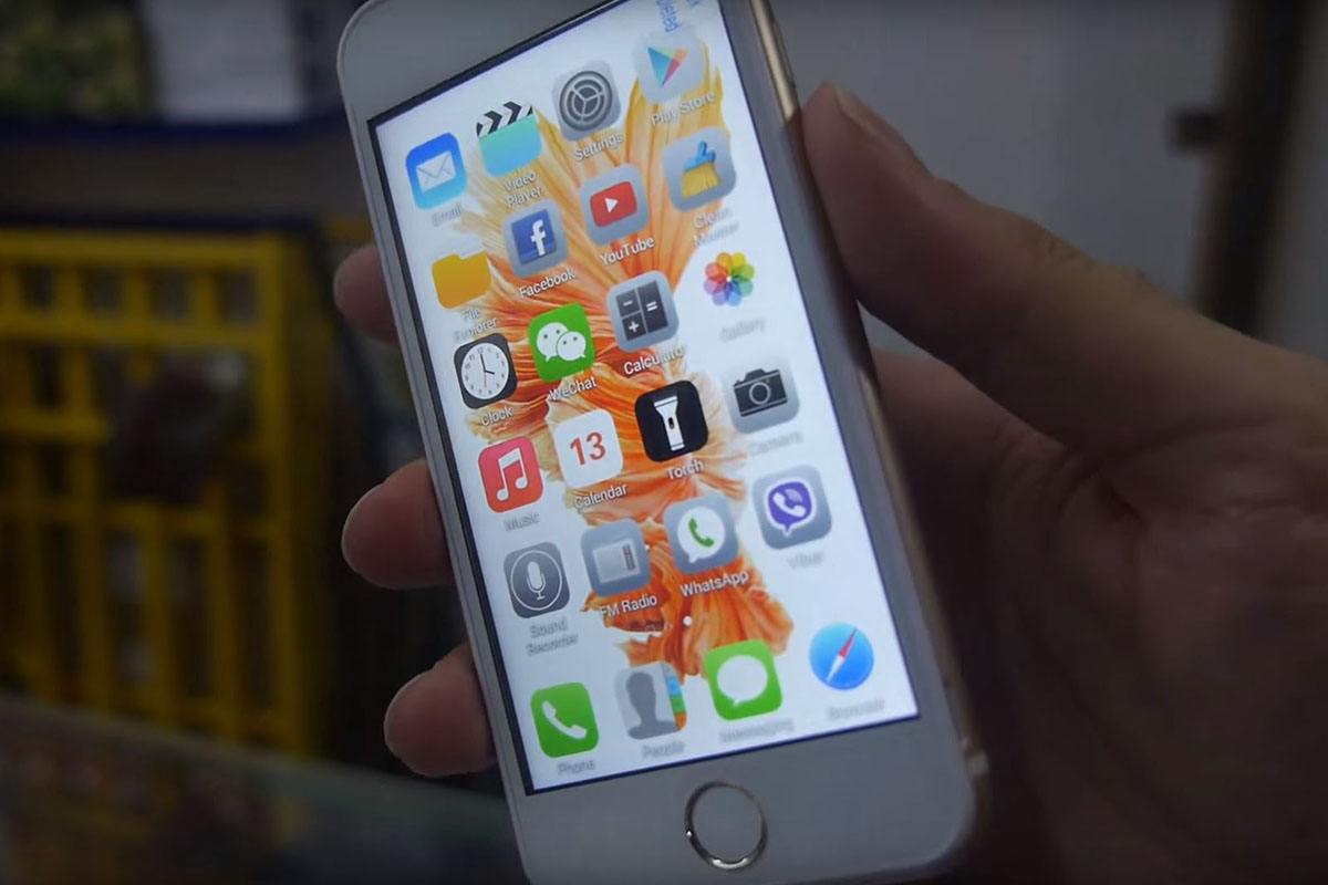 An iPhone 6S copy is on sale for £22 in China