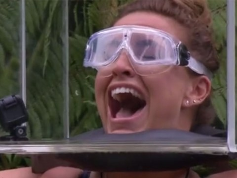 'It's breathing on me': Ferne McCann freaks out as she faces snakes in I'm A Celeb's latest trial