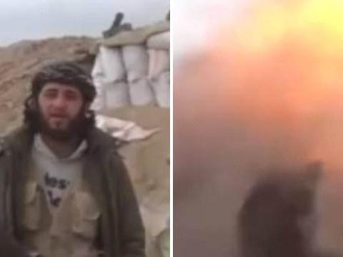 Video shows moment jihadi gets blown up while filming a propaganda video