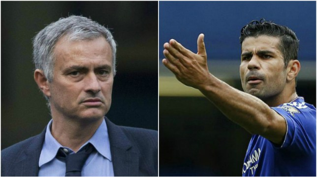 Diego Costa and Jose Mourinho have made up after their bust-up (Picture:AP/Getty)