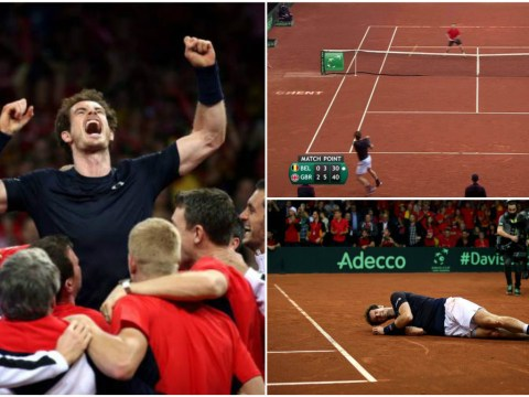 Andy Murray wins best match point ever to seal Davis Cup triumph for Great Britain