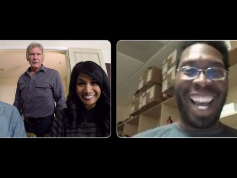 Harrison Ford is terrifying people on Skype but it's all for a good cause