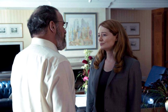Mandy Patinkin as Saul Berenson and Miranda Otto as Allison Carr (Picture: Stephan Rabold/Showtime)